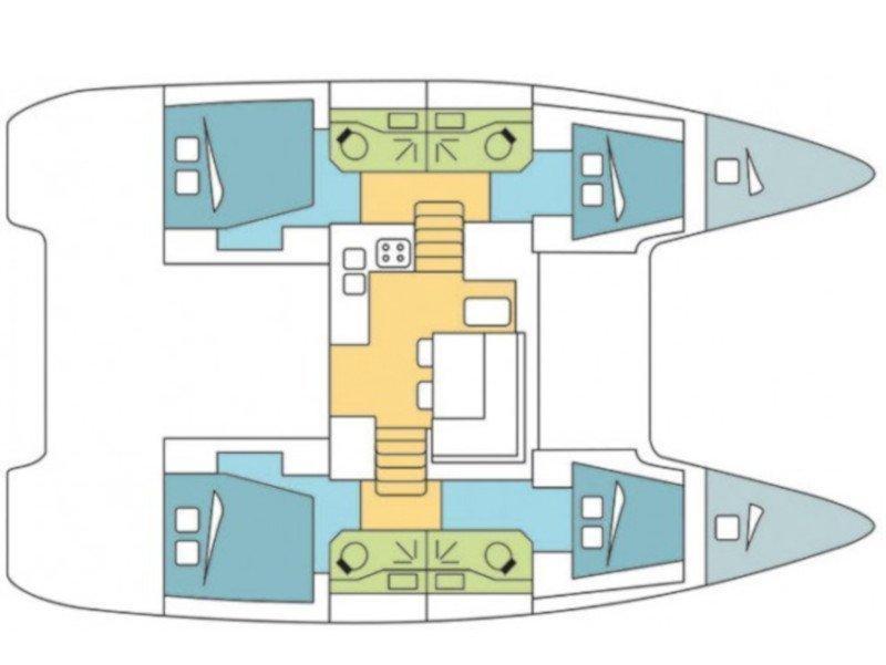 Lagoon 40 (Ocean King III) Plan image - 20