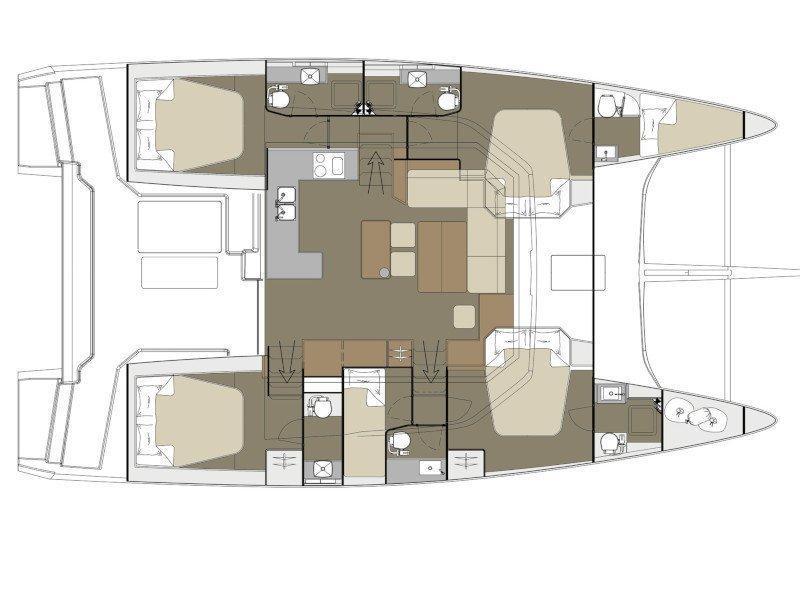 Dufour 48 Catamaran (Caipirinha) Plan image - 1