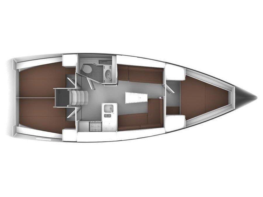 Bavaria Cruiser 37 (Lazy Days) Plan image - 1