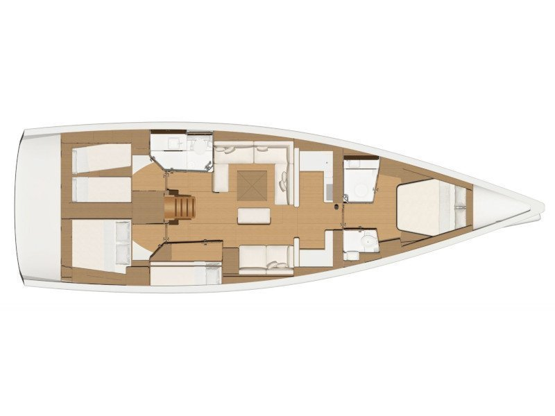 Dufour 520 Grand Large (Mar de Ardora) Plan image - 5