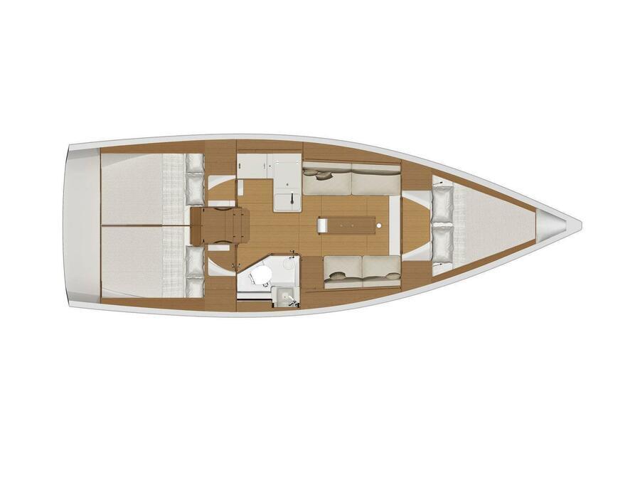 Dufour 360 Grand Large (Krka) Plan image - 9