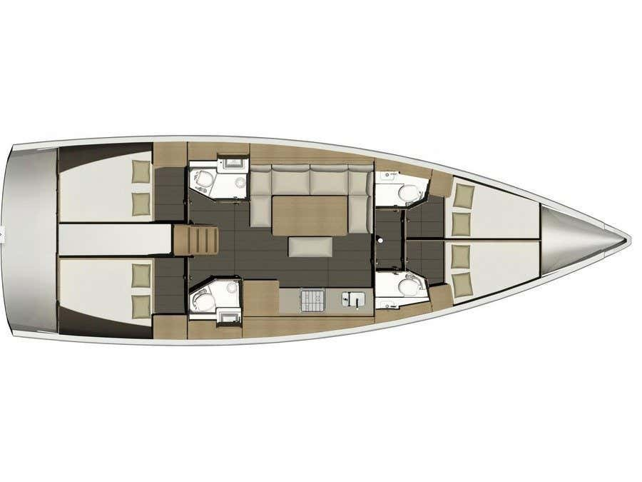 Dufour 460 Grand Large (Cetina) Plan image - 18