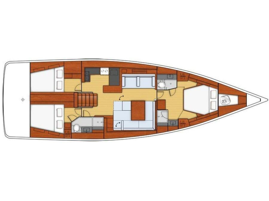 Oceanis 55 (Roxane ) Plan image - 15