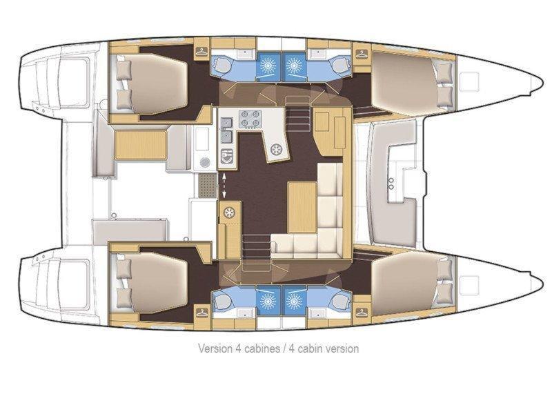 Lagoon 450  Flybridge (Shiva) Plan image - 2