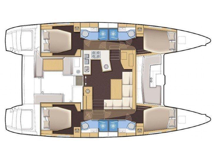 Lagoon 450  Flybridge (Rakhel) Plan image - 18