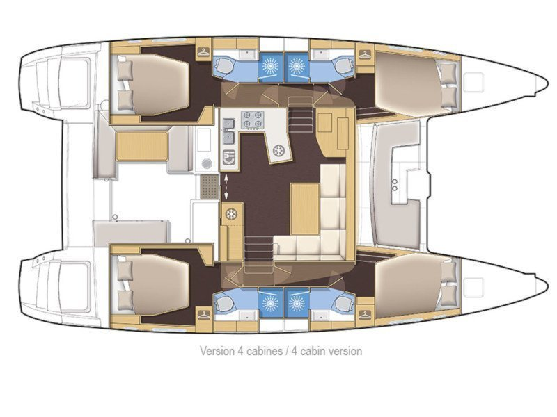Lagoon 450  Flybridge (Diva) Plan image - 3