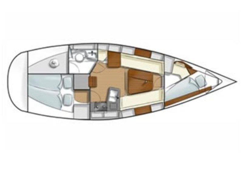 Hanse 315 (Sudsakorn 2) Plan image - 1