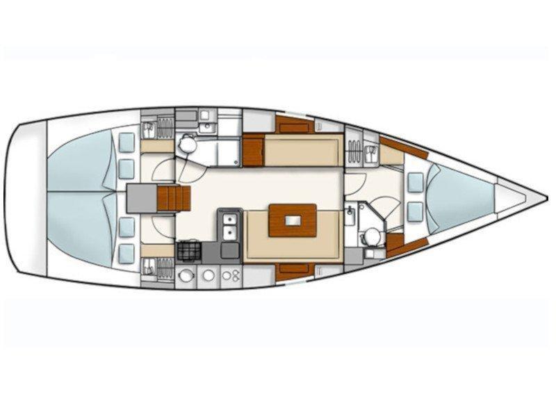 Hanse 400 (Kinnon) Plan image - 7
