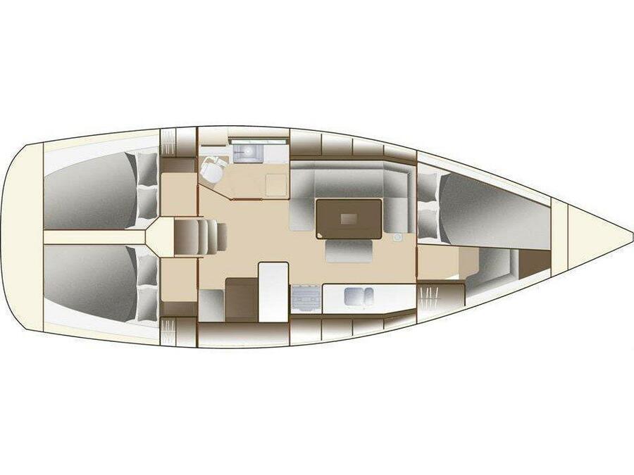 Dufour Grand Large 382 (Allegro) Plan image - 4