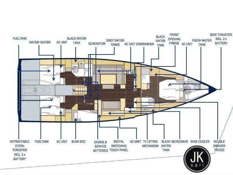 Bavaria Cruiser 57 (JK) Plan image - 12