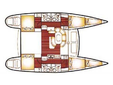 Lagoon 410 (Sofia Cuba) Plan image - 2