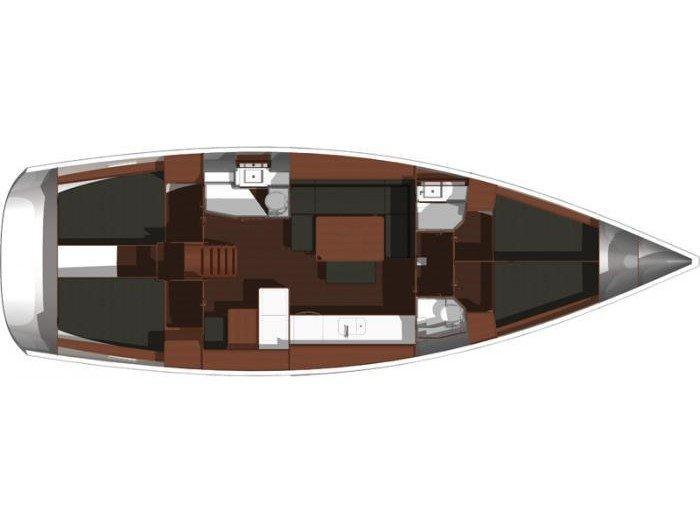 Dufour 450 GL (Primo) Plan image - 2