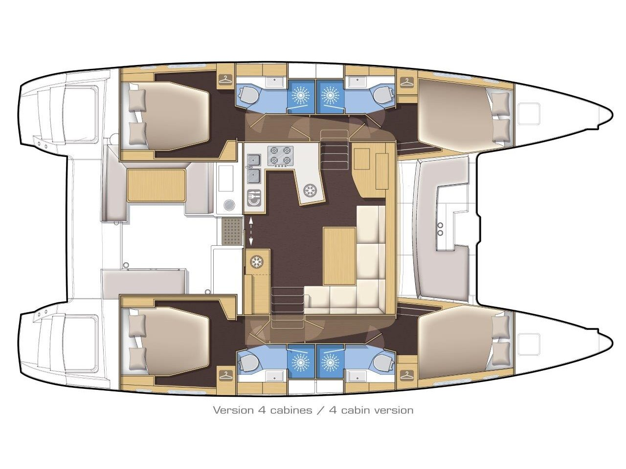 Lagoon 450 F (2019) ANJA equipped with generator, (ANJA I) Plan image - 10