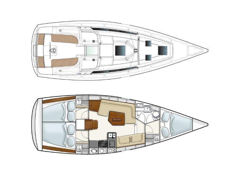 Hanse 350 (Karpouzi) Plan image - 13