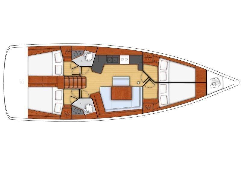 Oceanis 45 (Dark Horse 2 (watermaker)) Plan image - 8