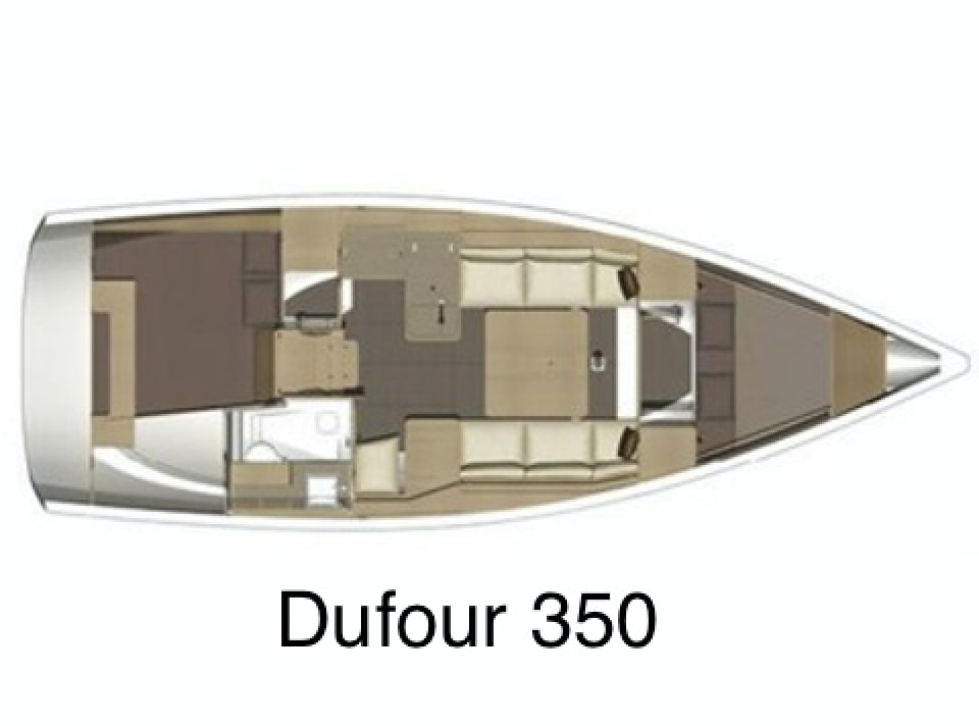 Dufour 350 (White Pearl) Plan image - 1