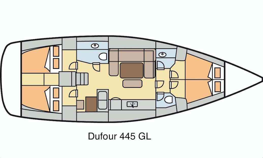Dufour 445 GL (Pyrrha) Plan image - 9