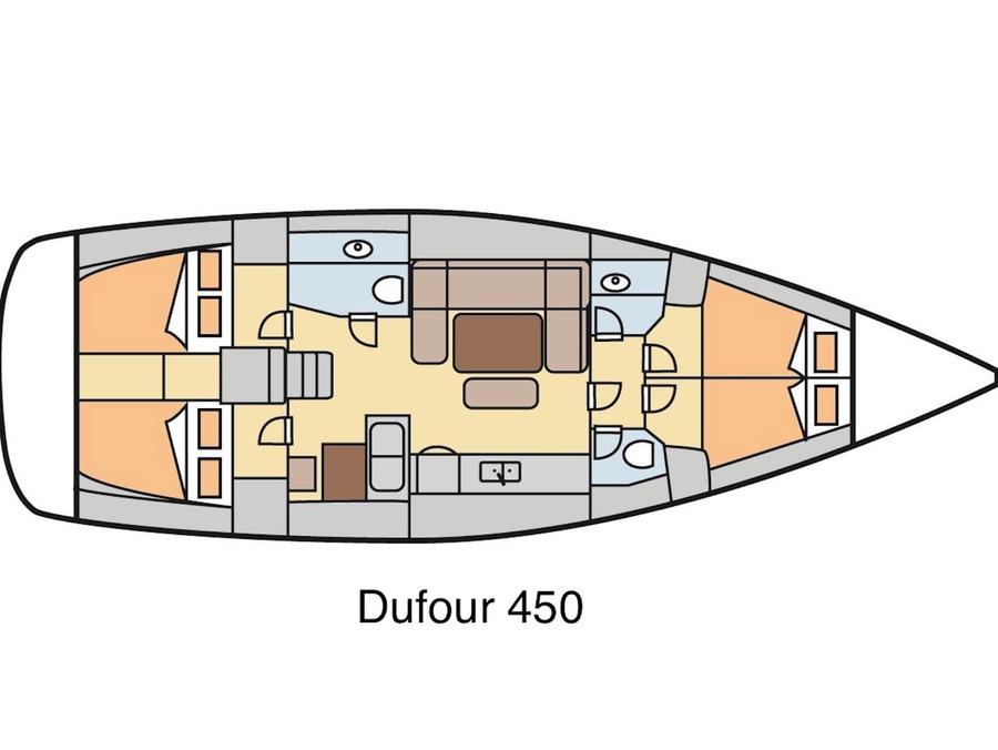 Dufour 450 GL (Grace) Plan image - 2