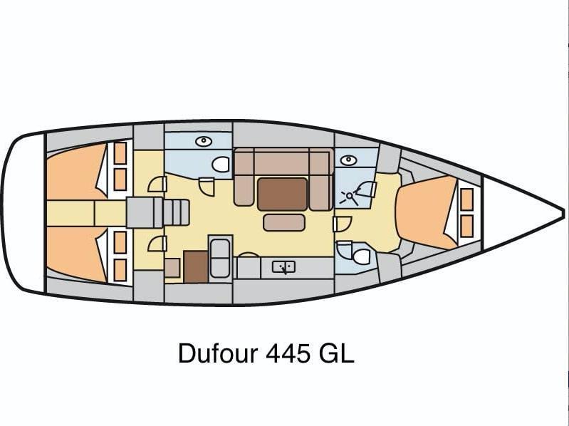 Dufour 445 GL 6 pax (Ambiente V) Plan image - 4