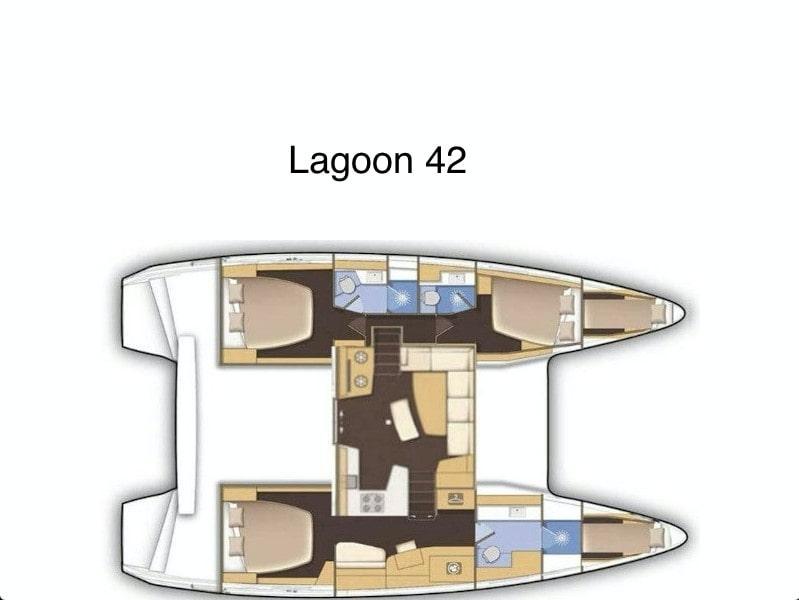 Lagoon 42 owner version (NURIA) Plan image - 7