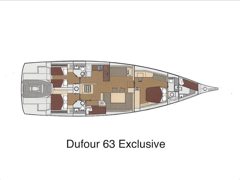 Dufour 63 Exclusive (Bahia Feliz V  ) Plan image - 5