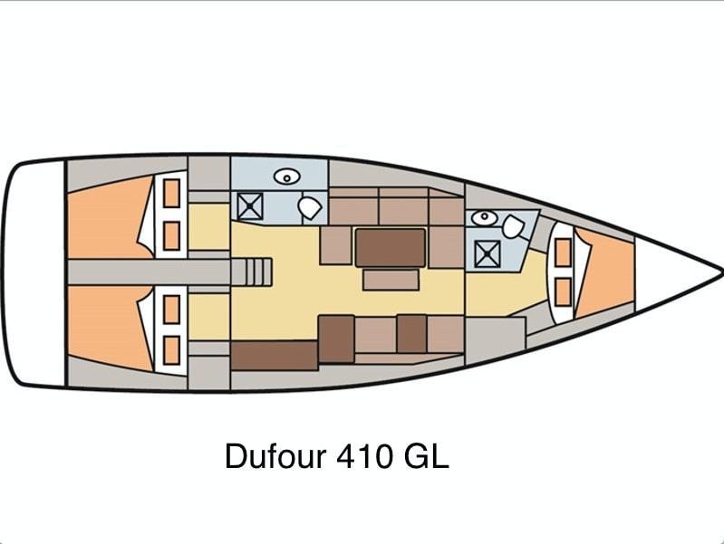 Dufour 410 Grand Large 8 (Geronimo) Plan image - 12