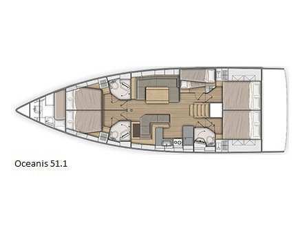 Oceanis 51.1 (One Piece) Plan image - 2