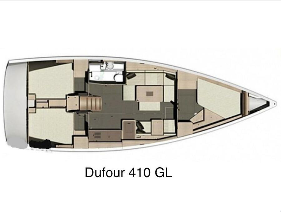 Dufour 410 Grand Large 6 (Swallow) Plan image - 2