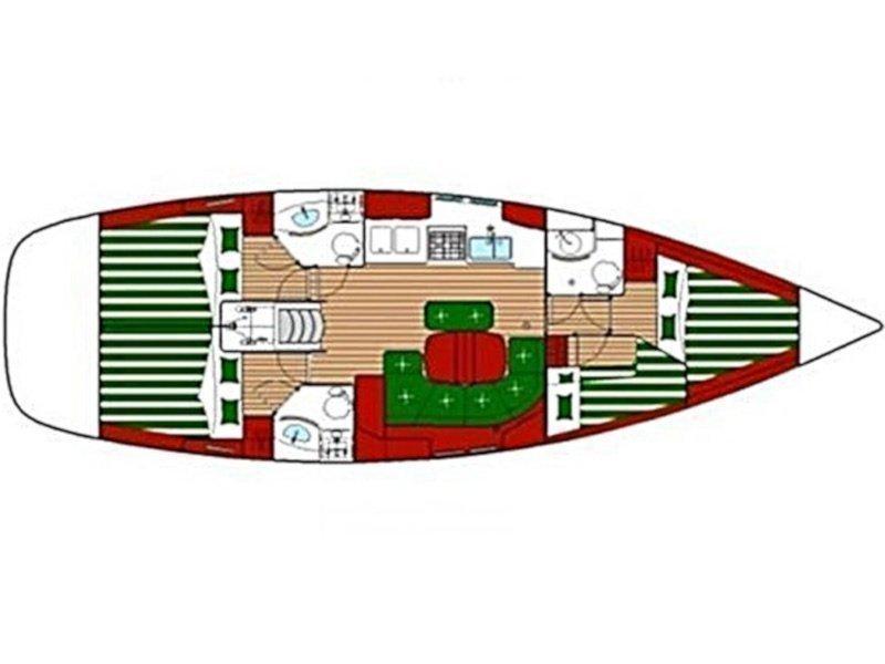 Oceanis 423 (Thalassa) Plan image - 10