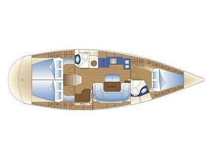 Bavaria 42 Cruiser (Okeanis) Plan image - 2