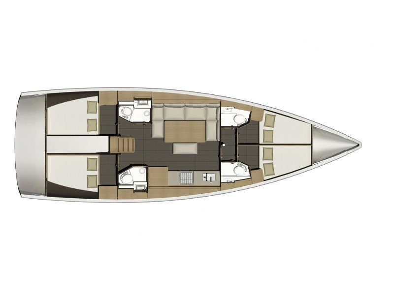 Dufour 460 Grand Large (Mincipesa) Plan image - 10