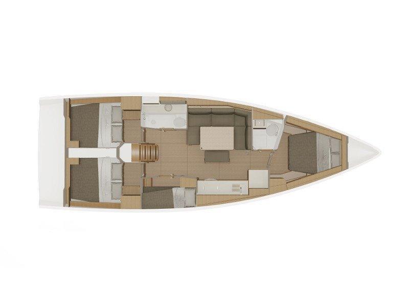 Dufour 430 Grand Large (Lana V) Plan image - 12