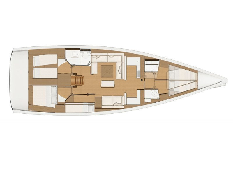 Dufour 520 Grand Large (Lateja) Plan image - 16
