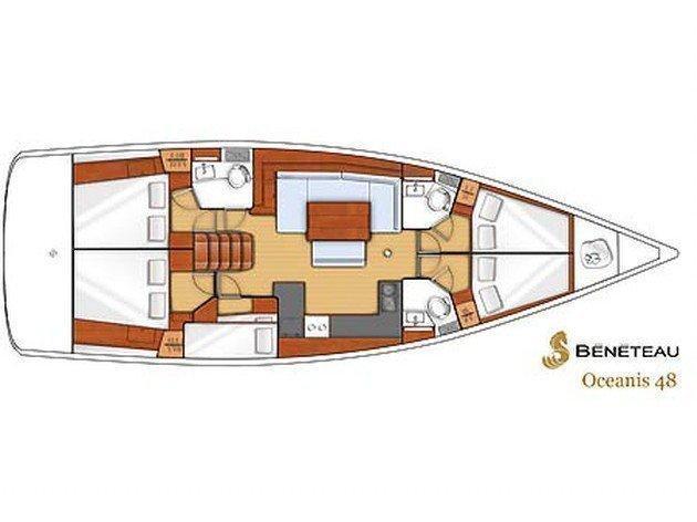 Oceanis 48 (Lastovo: One Way (Bare Boat) - Dubrovnik to Split) Plan image - 17