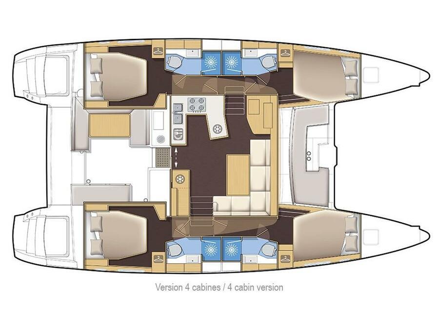 Lagoon 450  Flybridge (Hydra XI) Plan image - 1