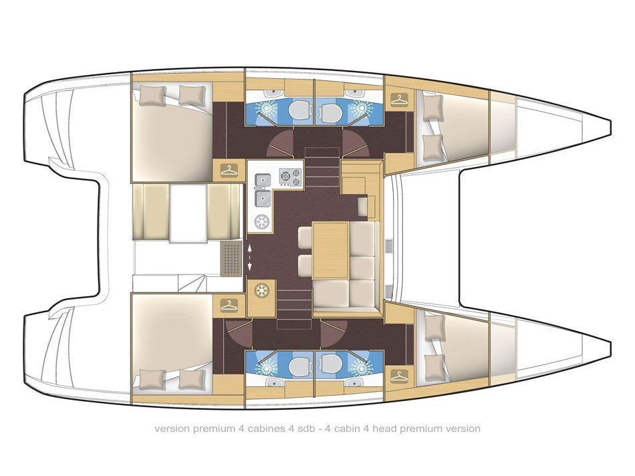 Lagoon 39 (Le Grand Bleu) Plan image - 2