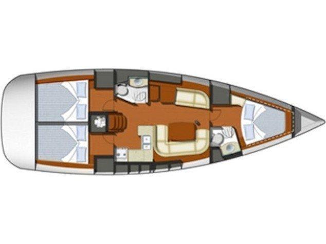 Sun Odyssey 42 i (B.M) Plan image - 1