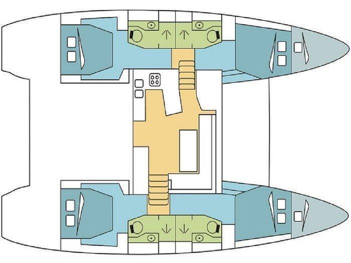 Lagoon 450 (Margeo XII (A/C - Generator)) Plan image - 1
