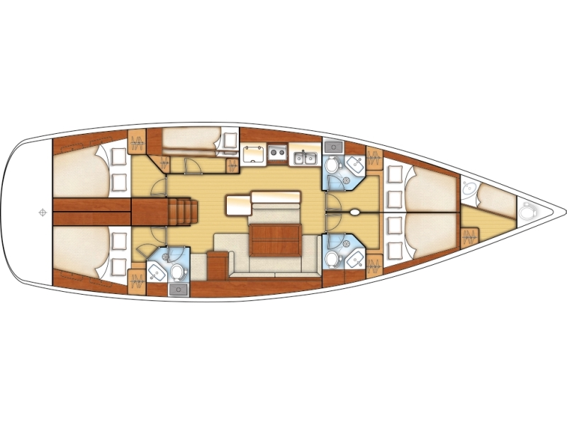 BENETEAU Cyclades 50.5 2009-10 REFIT 2018 (PARAIBA ) Plan image - 1