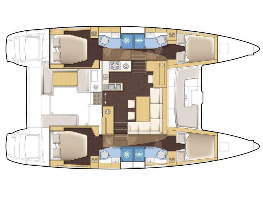 Lagoon 450 4 cabin (GENIA) Plan image - 2