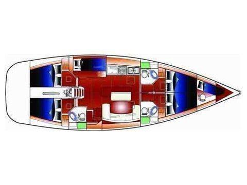 Beneteau Cyclades 50.5   (SaPhiSo III) Plan image - 2