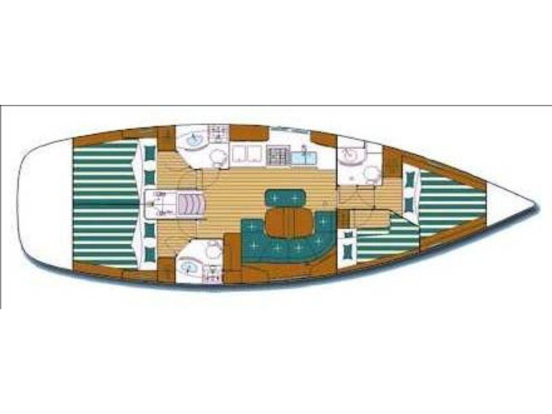 Oceanis Clipper 423 (Jazz and Blues) Plan image - 2