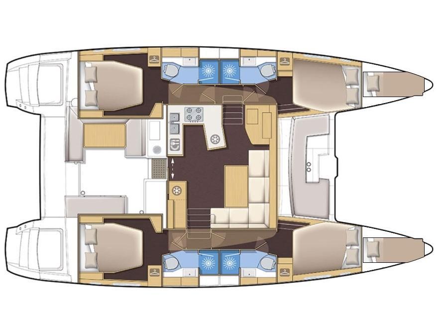 Lagoon 450F  (ADRIATIC CHEETAH) Plan image - 2