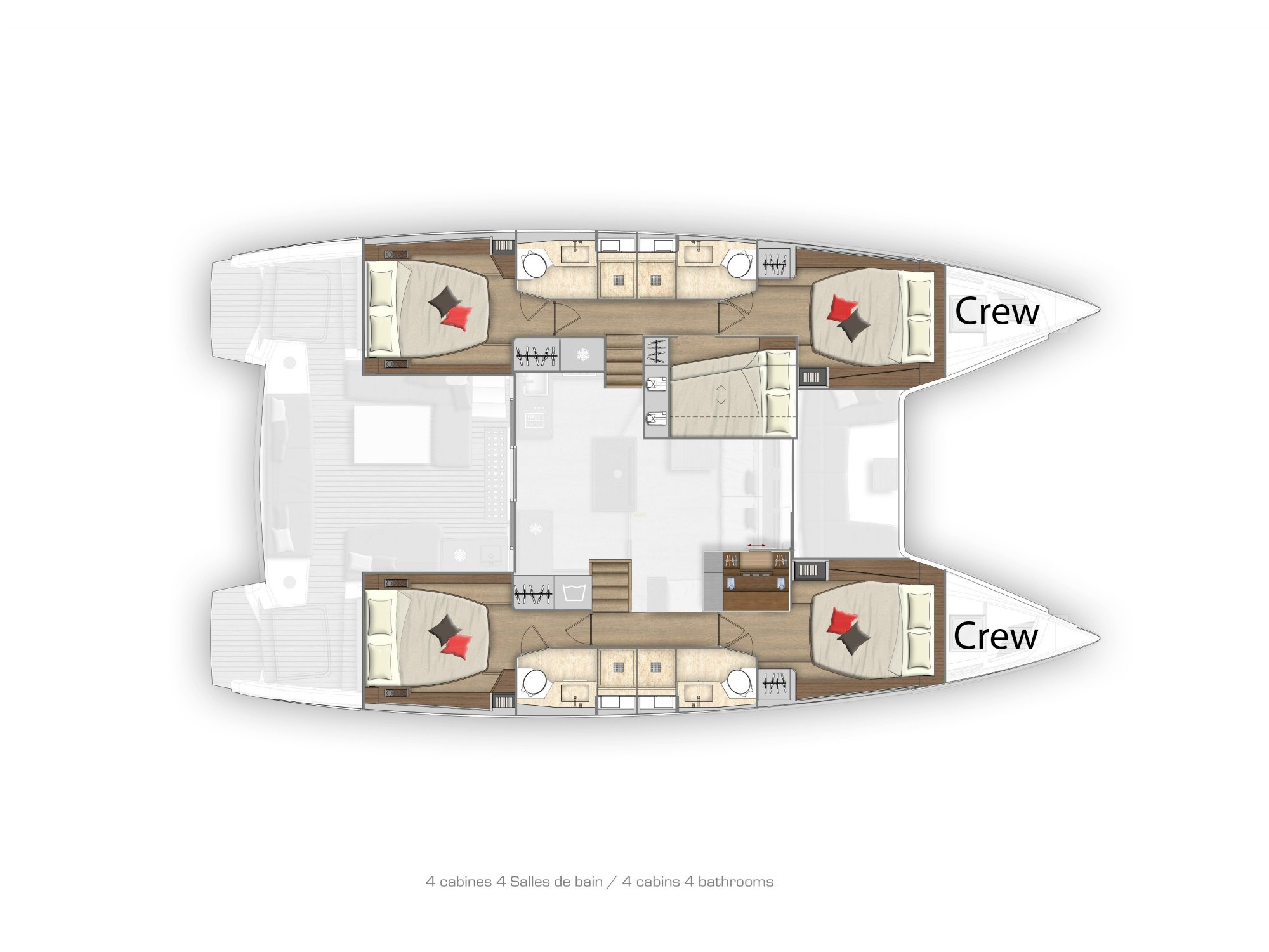 Lagoon 50 LUX elegance (2019) equipped with aircon (TWIN JOY) Plan image - 16