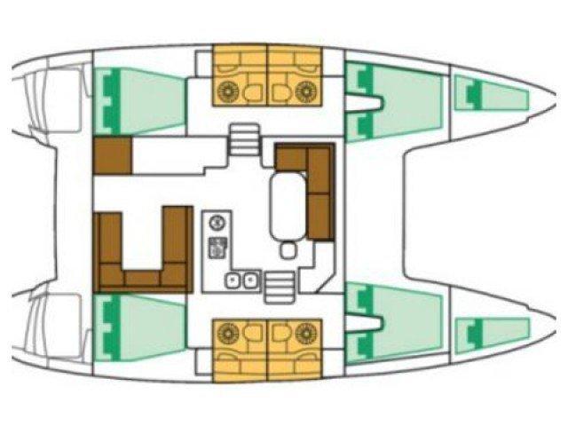Lagoon 400 S2 (Anemoessa) Plan image - 1