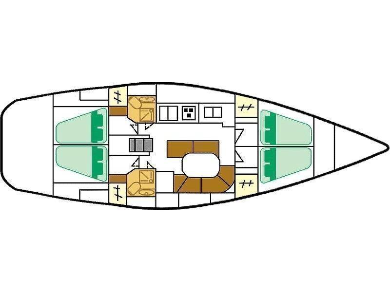 Oceanis 461 (Capetan Giorgos) Plan image - 1