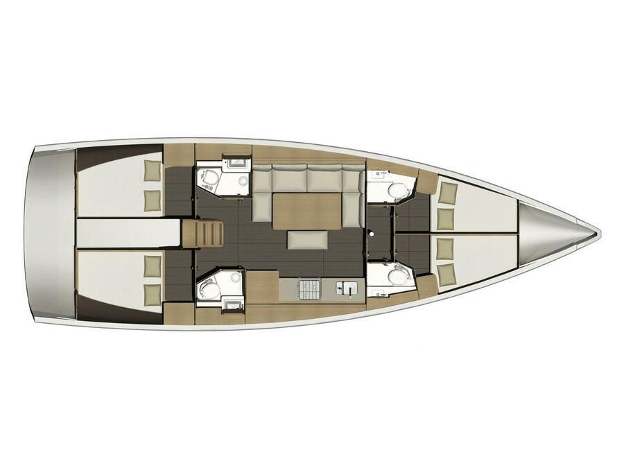 Dufour 460GL (Daiquiri) Plan image - 7