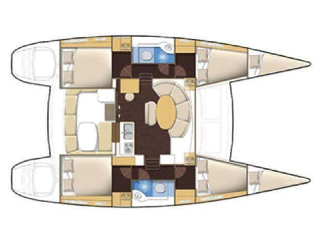 Lagoon 380 (Tiny K. ( inverter-solar panels )) Plan image - 3