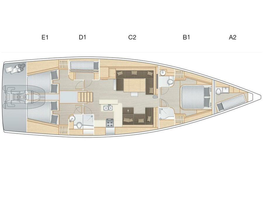 Hanse 588 - 4 cabins (EREMA) Plan image - 4