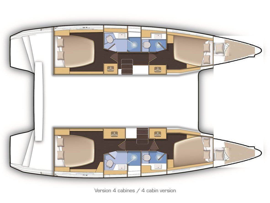 Lagoon 42 (Aura) Plan image - 19